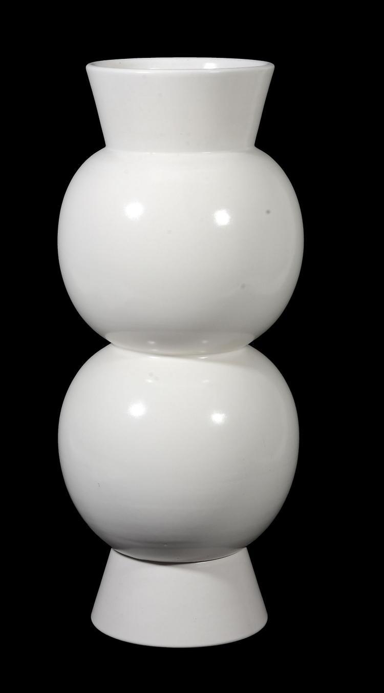 Vincent Collin , a ceramic Bulle vase, white glazed, impressed monogram