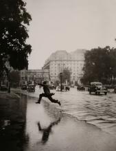 J.A. Hampton (active 1930s-40s) - Flooded Road near Hyde Park, 1939