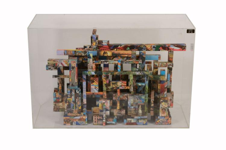 Richard Nichols , a colour printed collage construction, Opus 2011 , Nov 2003