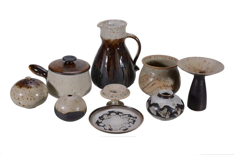 Barbara Cass , a collection of circa twenty pieces of studio pottery