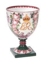 A Royal Doulton Wemyss Centenary Presentation Goblet and Presentation box