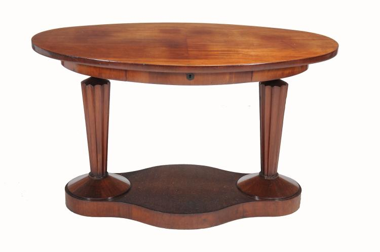 A Continental Art Deco mahogany centre table , first half 20th century
