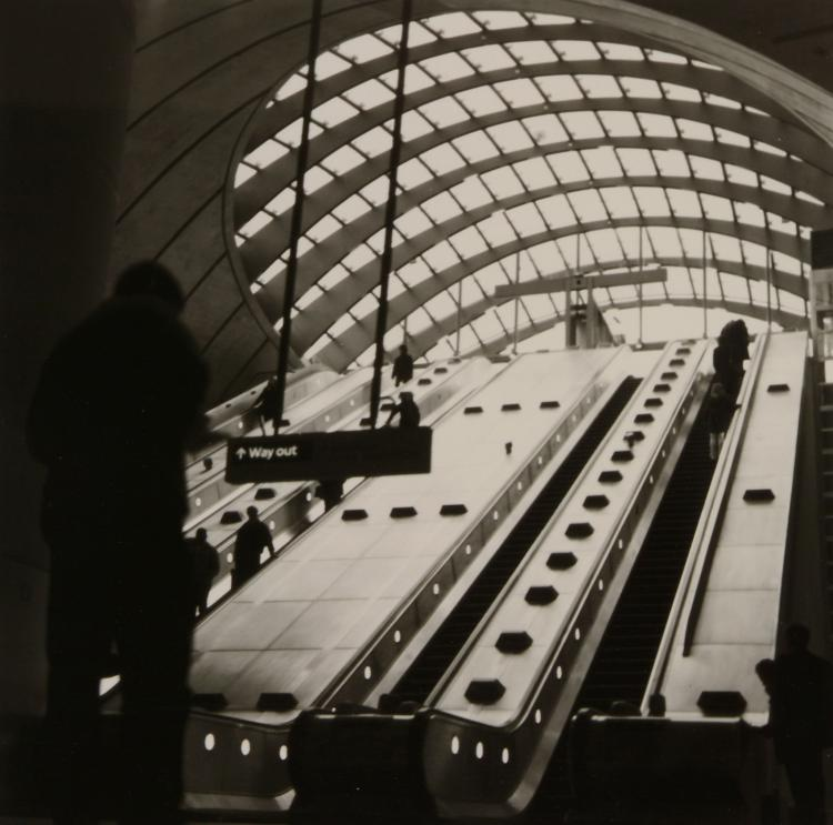 Anthony Jones (b. 1962) - Canary Wharf Station, 1990s