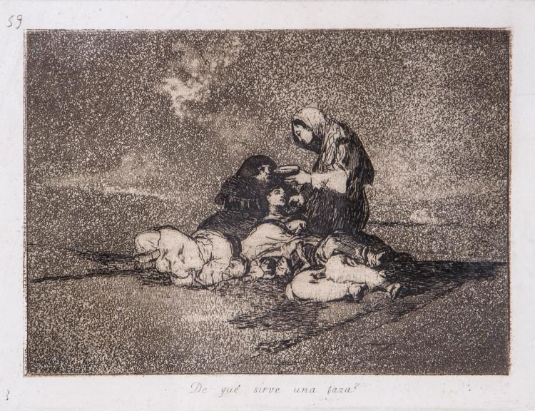 Francisco de Goya (1746-1828) - De qué sirve una taza?