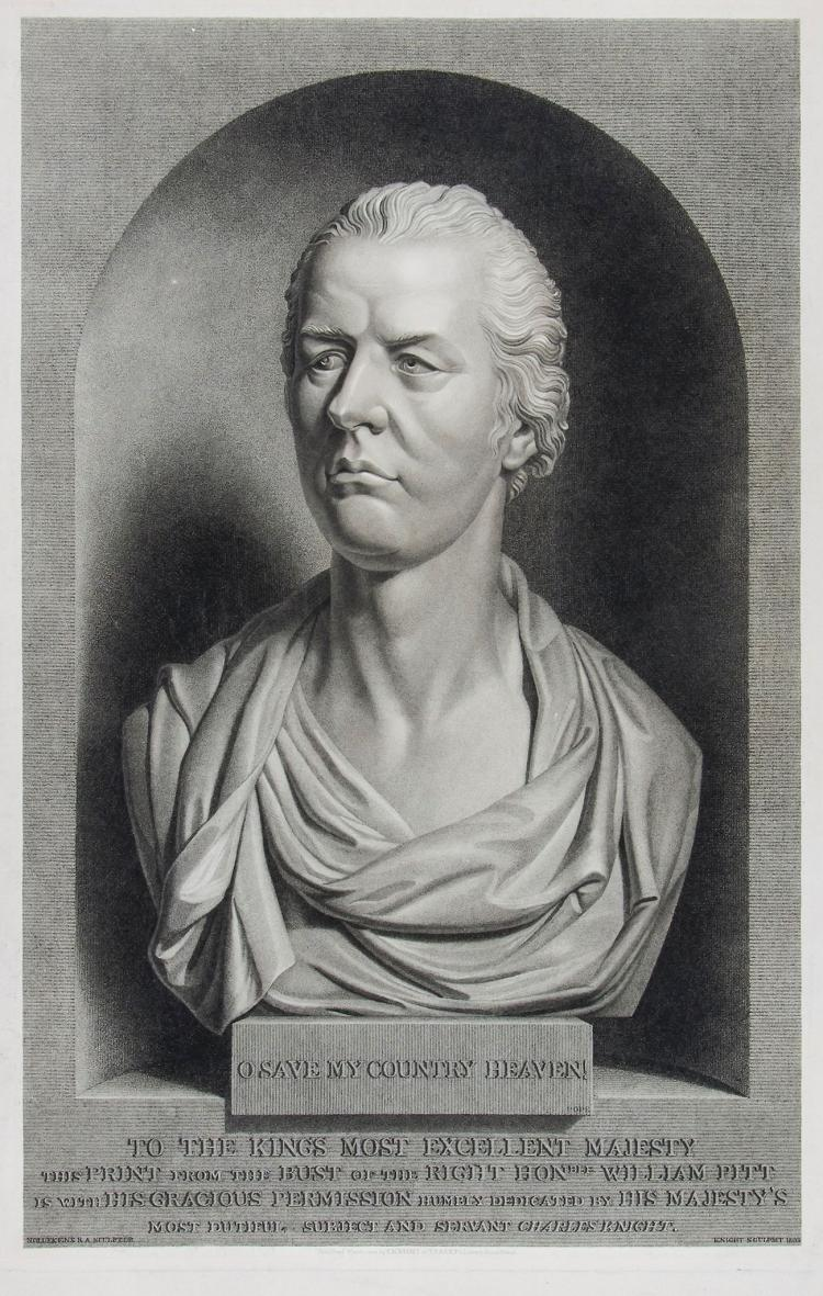 Knight (Charles) - Bust of Prime Minister William Pitt,