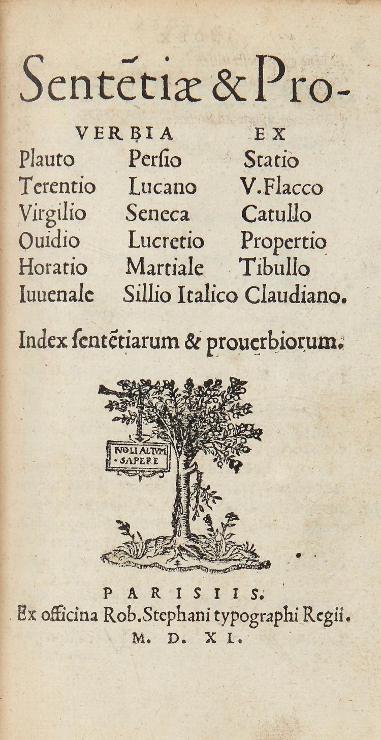 Cicero (Marcus Tullius) - Sententiae Illustriores, Apophthegmata item, & Parabolae sive Similia,