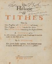 Selden (John) - The Historie of Tithes,