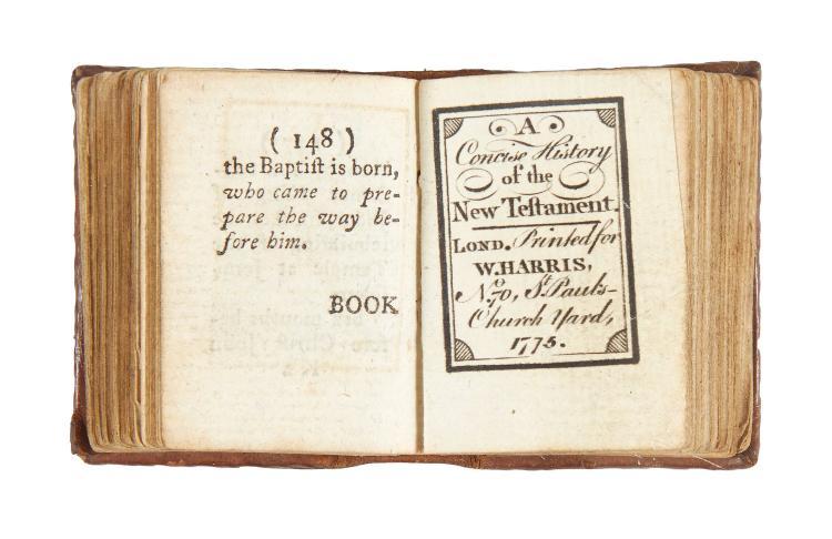 Miniature book.- - [The Bible in Miniature,