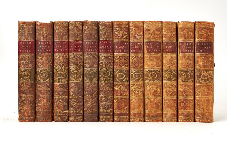 Gibbon (Edward) - 12 vol., new edition, half-titles to vol.VII-XII, vol