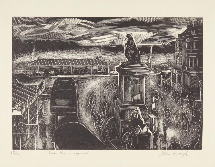 ** John Farleigh (1900-1965) - Last Bus, Weymouth