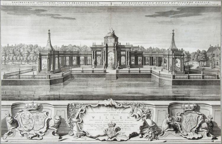 Jan Caspar Philips (1695-1773) - Naauwkeurige afbeelding van het pragtig gebouw,