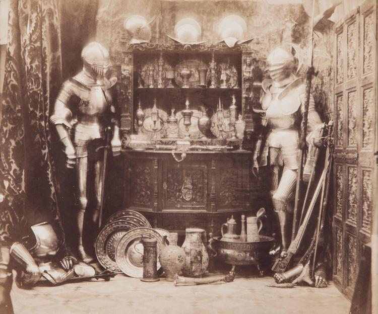 William Lake Price (1810-1896) - Interior with Armour, ca.1858