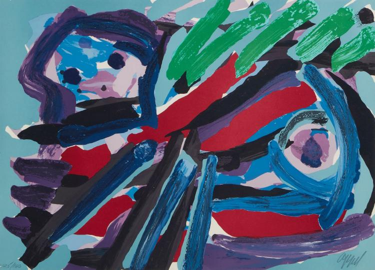 Karel Appel (1921-2006) - Walking With My Bird