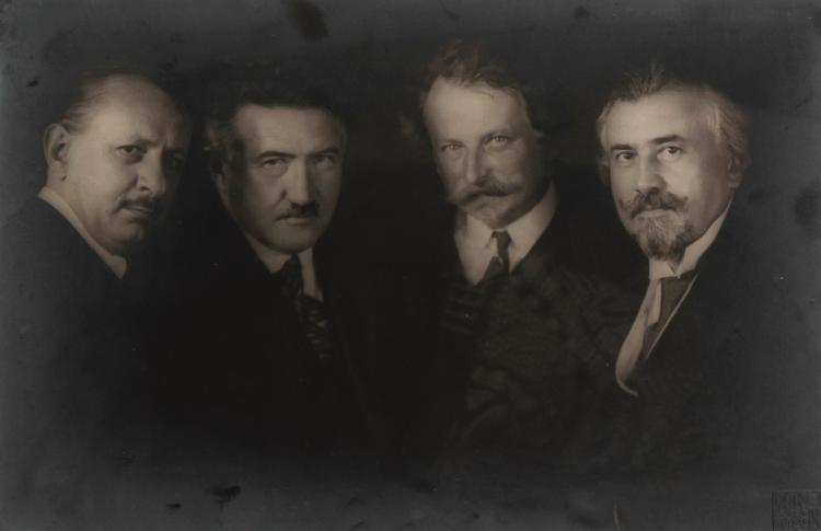 Frantisek Drtikol (1883-1961) - Karel Hoffmann, Josef Suk, Ladislav Zelenka, Jiri Herold, Prague, 1930