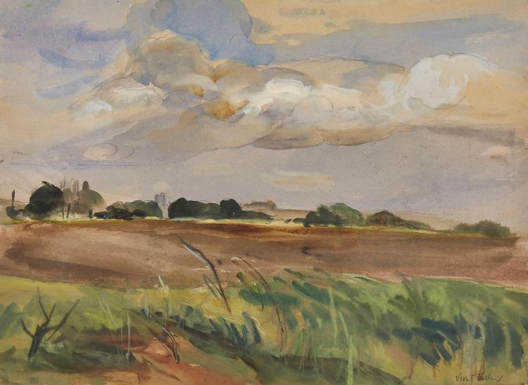 Fuller (Violet) - A group of 4 English landscapes,