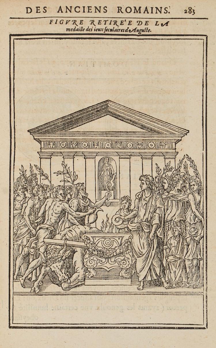 Du Choul (Guillaume) - Discours de la Religion des Anciens Romains,