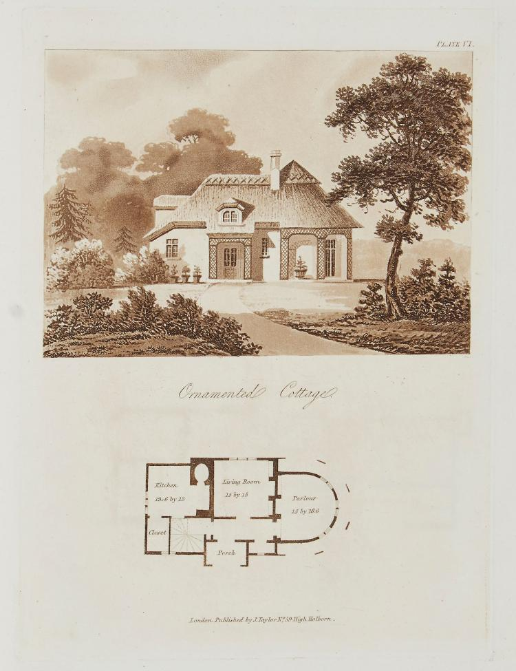 Lugar (Robert) - Architectural Sketches for Cottages, Rural Dwellings, and Villas, in the Grecian,