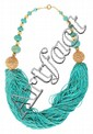 A turquoise bead necklace, the central section