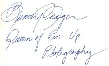 Yeager, Bunny - BUNNY'S HONEY. BUNNY YEAGER, QUEEN OF PIN-UP PHOTOGRAPHY, signed