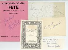 Actors & Writers - Collection of programmes, photographs, cards and ephemera signed...