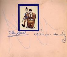 Autograph Album - Incl. Laurel & Hardy - Autograph album with signatures by actors, entertainers and sportsmen
