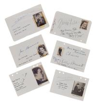 Autograph Collection - Actors & Entertainers - Large collection of signatures by actors, singers