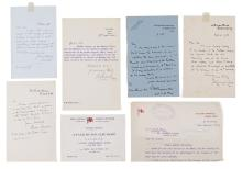 Autograph Collection - Incl. Ernest Shackleton - Collection of autograph and typed letters addressed to S.W
