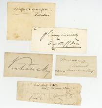 Autograph Collection - Incl. Queen Victoria - Collection of clipped signatures including Queen Victoria