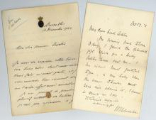 Autograph Collection - 19th Century - Collection of letters by politicians and aristocrats