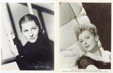 Actresses - Collection of black and white signed studio and publicity photographs