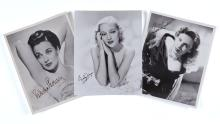 Actresses - Collection of black and white signed publicity and studio photographs