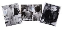 Agatha Christie - Movie Adaptations - Three black and white signed original stills from movies based on...