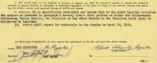Garland, Judy - Typed contract wherein Garland engages the bicycle act The...