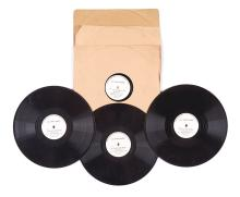 Lord and Lady Mountbatten of Burma - Four Gramophone vinyl 78 rpm records of Lord Mountbatten's speech