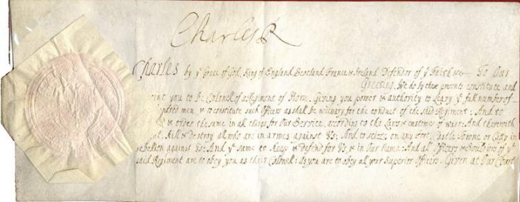 charles ii king signed document by charles ii being is With documents by charles