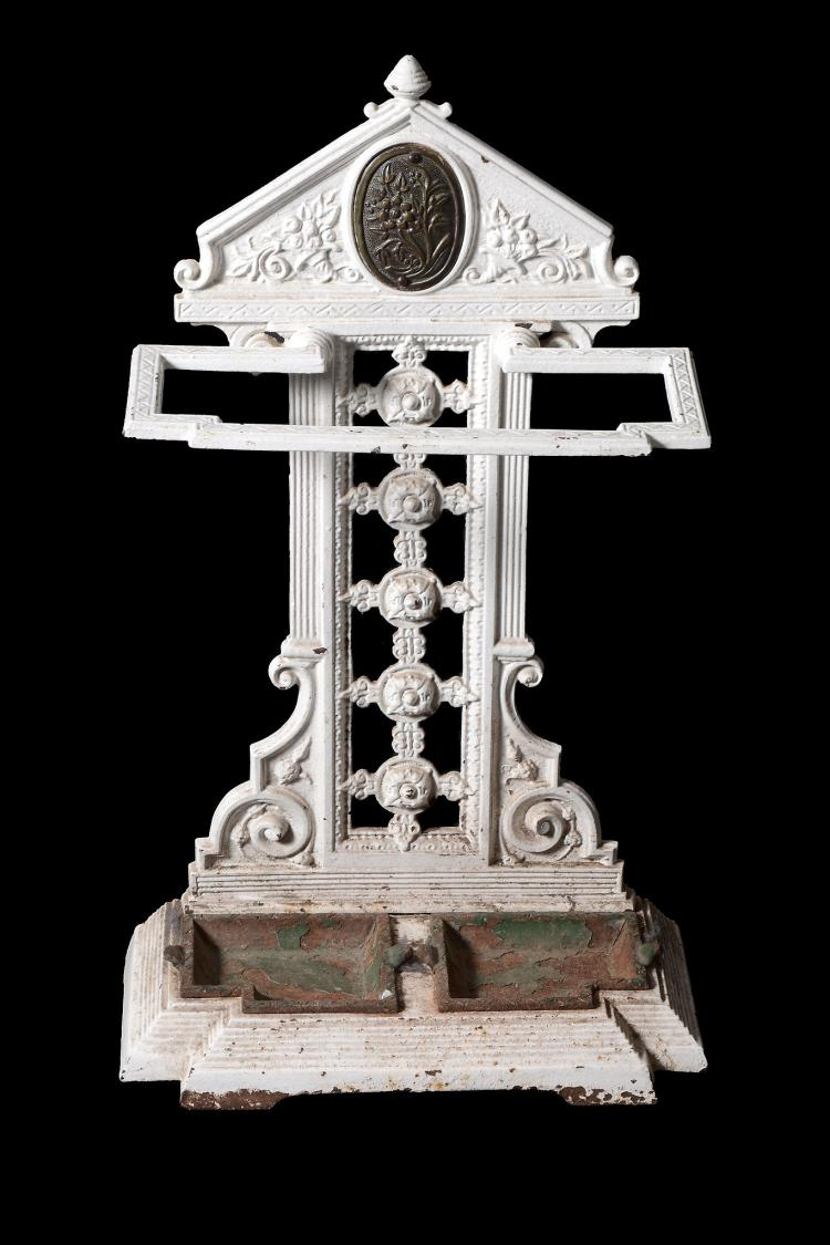 A Victorian painted cast iron stick stand, circa 1890