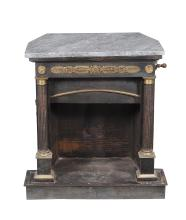 A steel and brass mounted stove in Louis XVI style , late 19th century