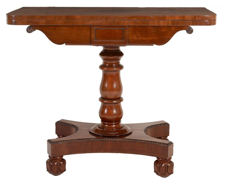 A William IV mahogany folding tea table, circa 1835