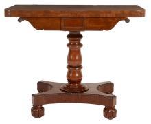 A William IV mahogany folding tea table, circa 1835