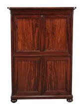 An early Victorian Colonial hardwood writing cabinet, circa 1840