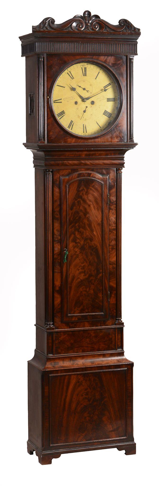 A Victorian flame mahogany longcase clock , Alexander Ralston, of Glenramskill