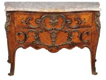 A French kingwood and rosewood banded commode in Louis XV style , 20th century