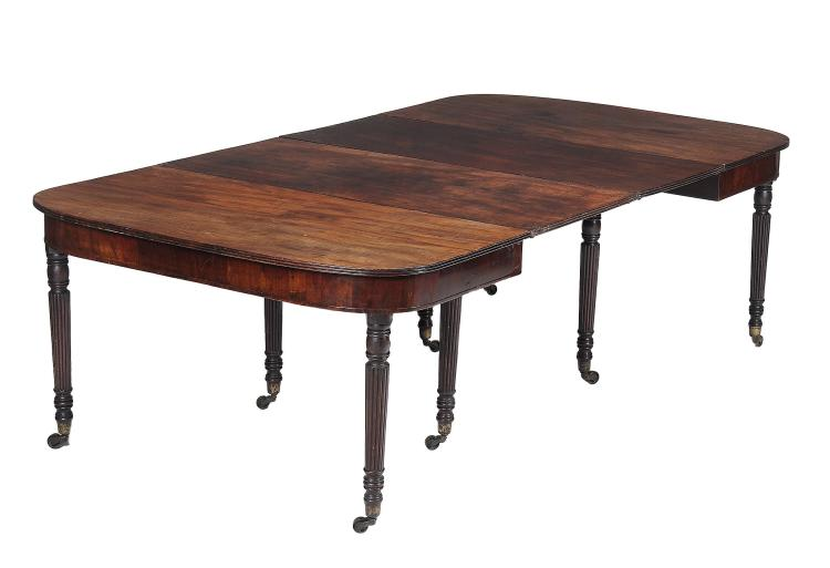 A Regency mahogany dining table , circa 1815