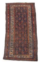 A Caucasian gallery carpet or long rug, approximately 344cm x 136cm