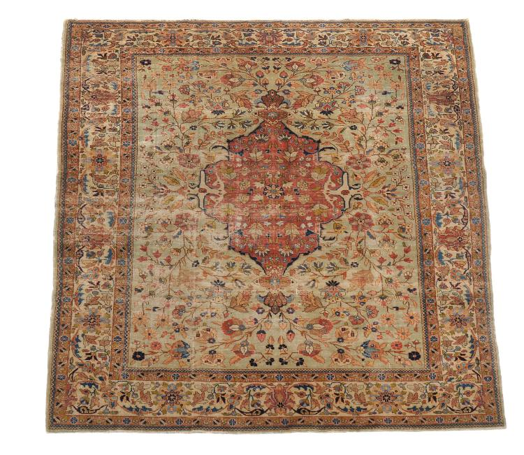 A Tabriz carpet , approximately 308cm x 209cm