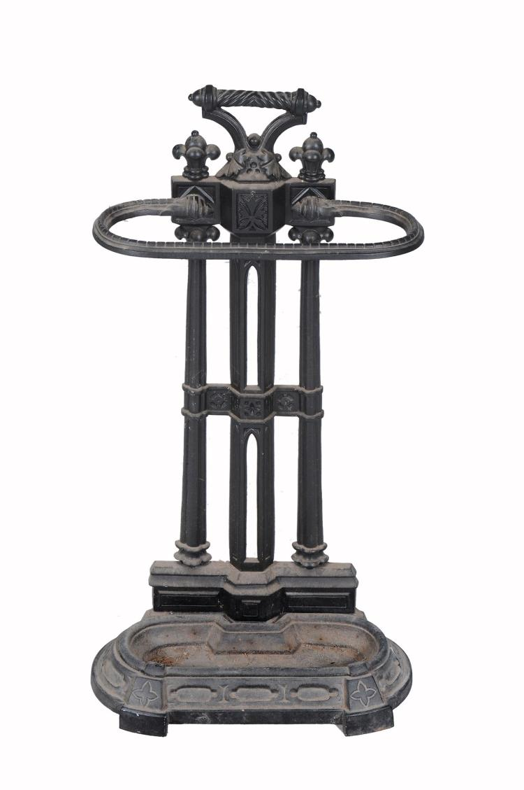 A Victorian cast iron stick stand , late 19th century