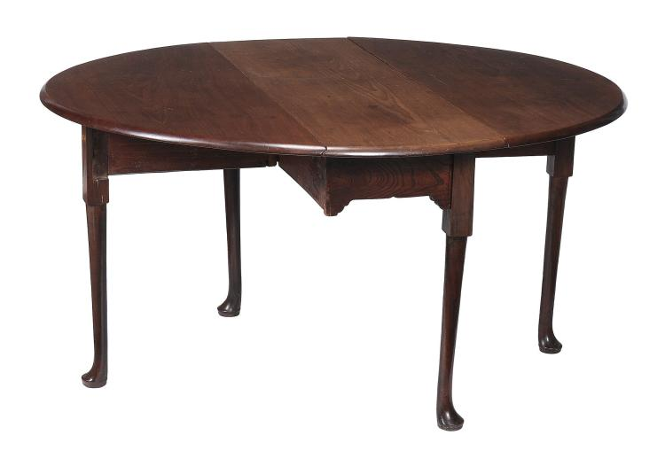 A George II mahogany drop leaf dining table , circa 1750, 71cm high