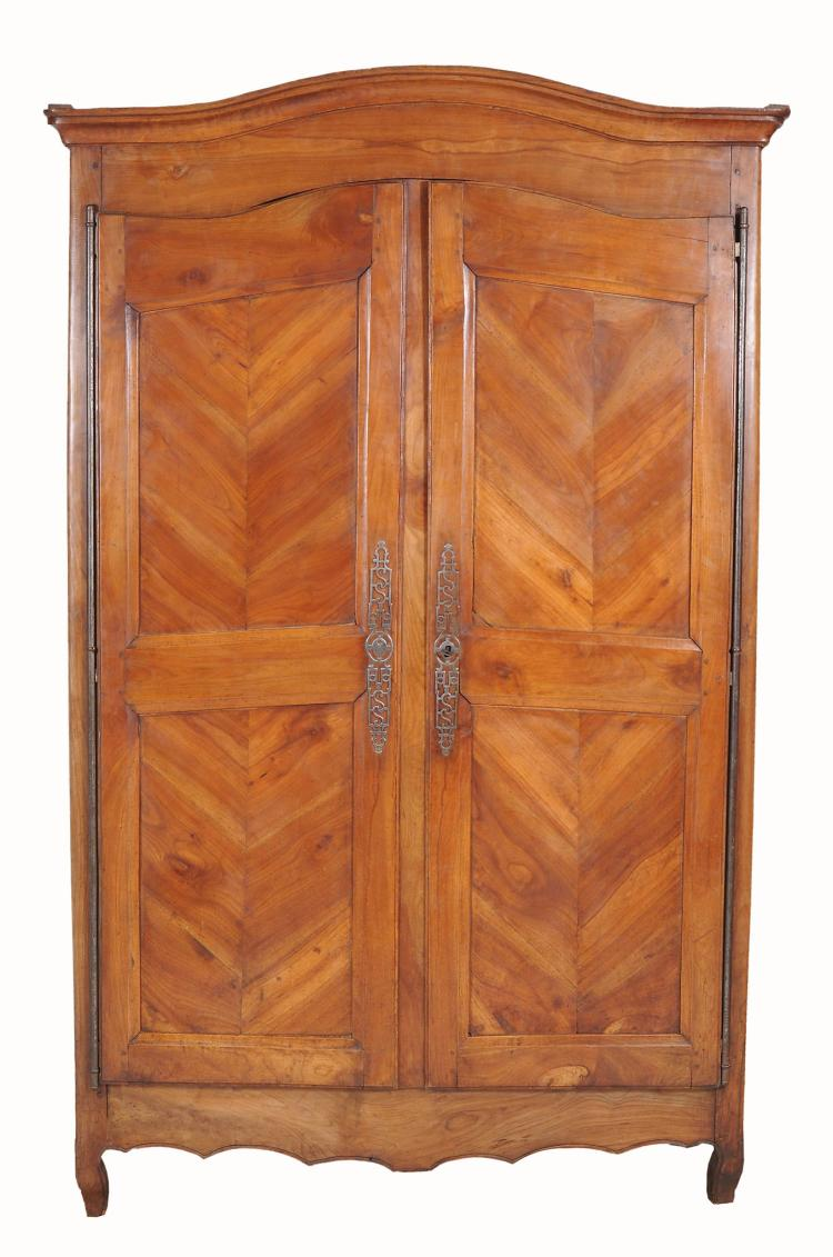 A Louis XV chestnut armoire , mid 18th century