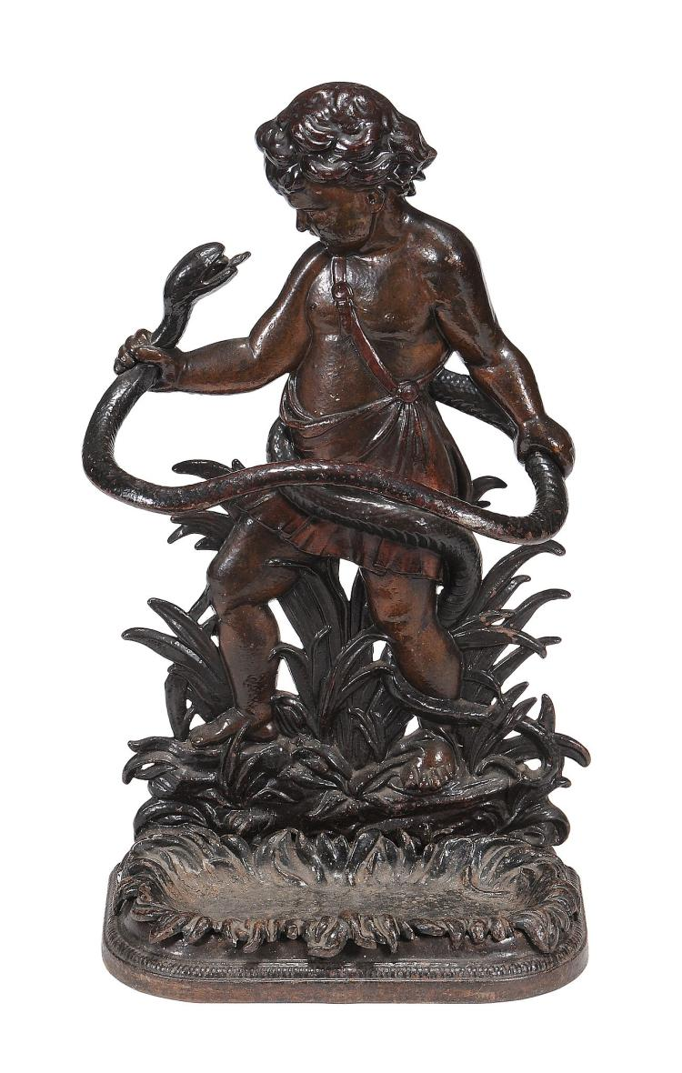 A Victorian painted cast iron stick stand, circa 1880
