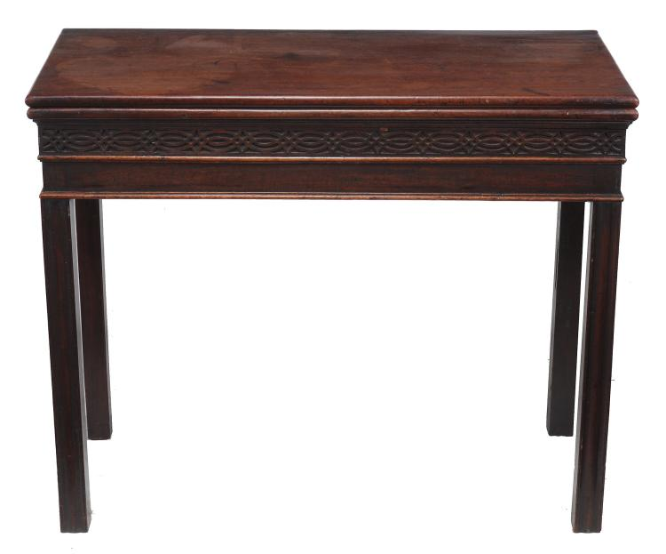 A George III mahogany tea table, circa 1770
